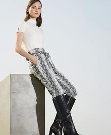 Animal print faux leather trousers Walnut / Tobacco Snakeskin Print Woman 202TT2225-02