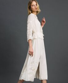 Georgette long dress with embroidery White Snow Woman 192TP2340-02