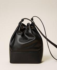 Bucket bag with logo Black Woman 212TB7092-04