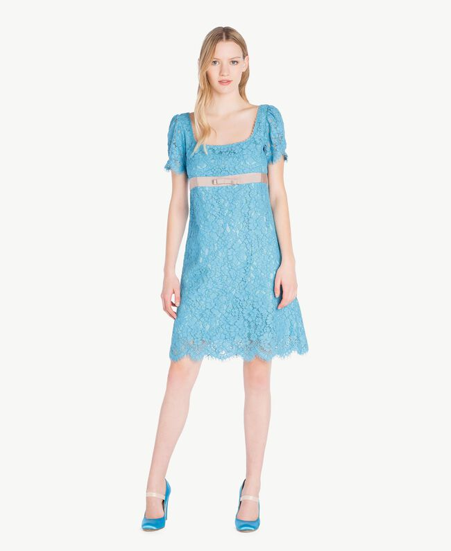 Lace dress Oriental Blue Woman PS82XA-01