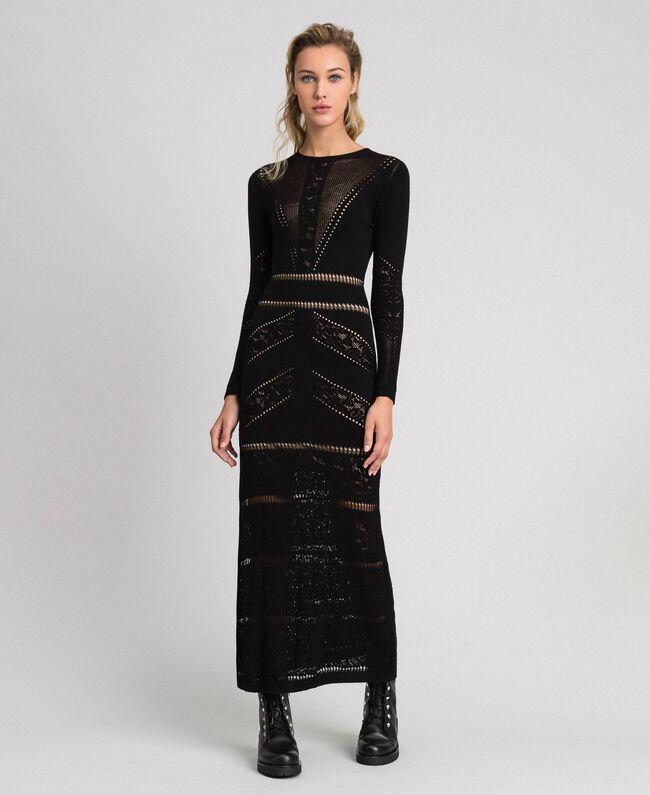 Robe longue ajourée Noir Femme 192TT3210-01