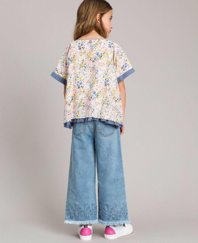Muslin blouse with print Mini Stars Print Child 191GJ2531-03