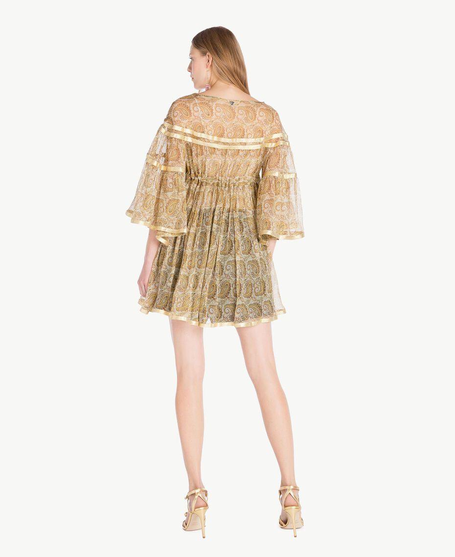 Silk tunic Yellow Macro Paisley Print Woman TS825N-03