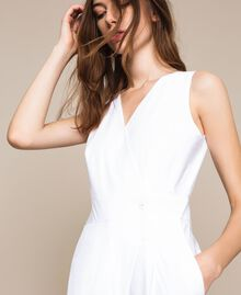 Poplin jumpsuit White Woman 201TT2038-05