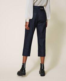 Wide leg jeans Dark Denim Woman 202MP2072-03
