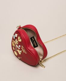 Faux leather heart shaped shoulder bag Venetian Red Woman 201MA7053-04