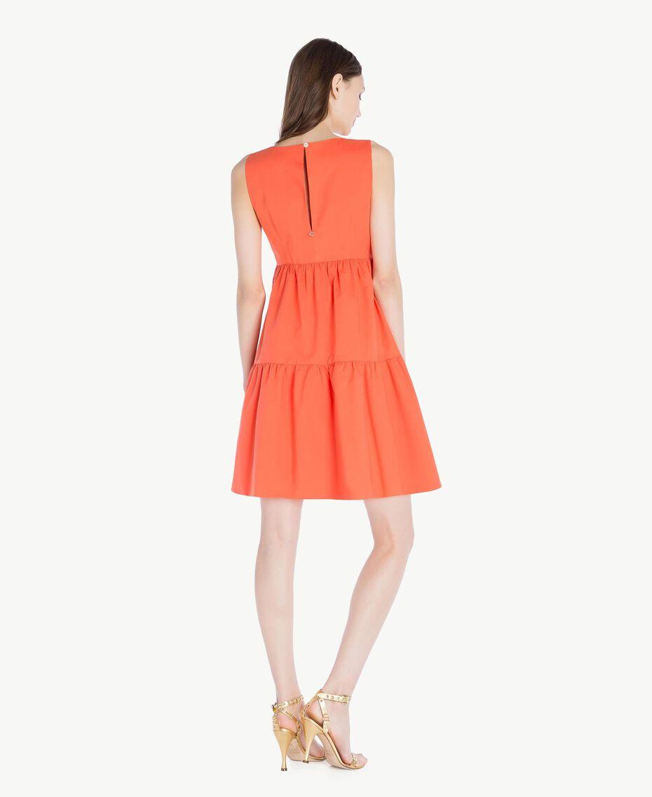 Poplin dress Orange Woman TS821F-03
