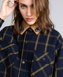 Tartan jacket Bicolor Blue Night / Gold Fancy Tartan Woman YA82EP-04