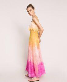 Robe longue en dentelle tie&dye Multicolore Tie Dye Rose Femme 201TT2282-03