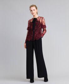 Valencienne lace multi-colour shirt Bordeaux Woman PA82FR-0T