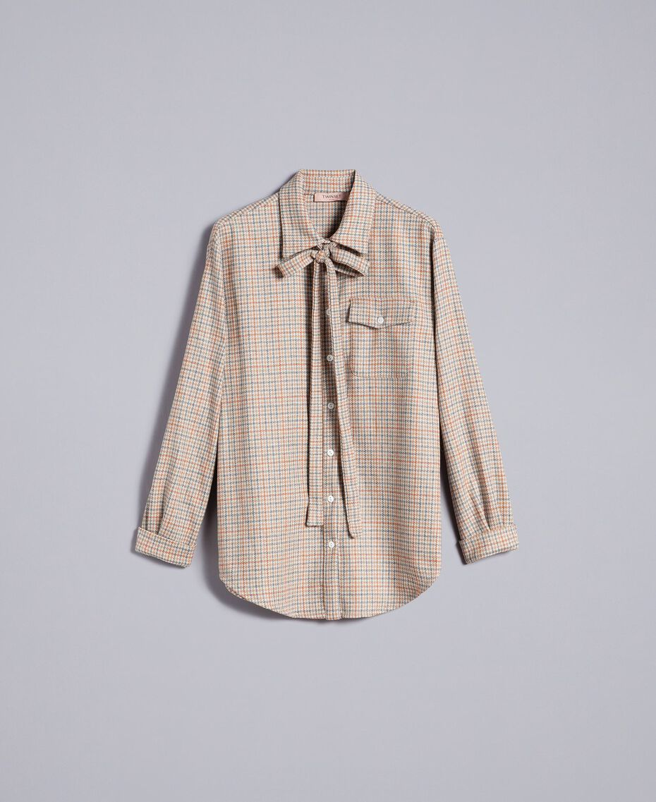 Printed flannel shirt Multicolour Check Woman TA8215-0S