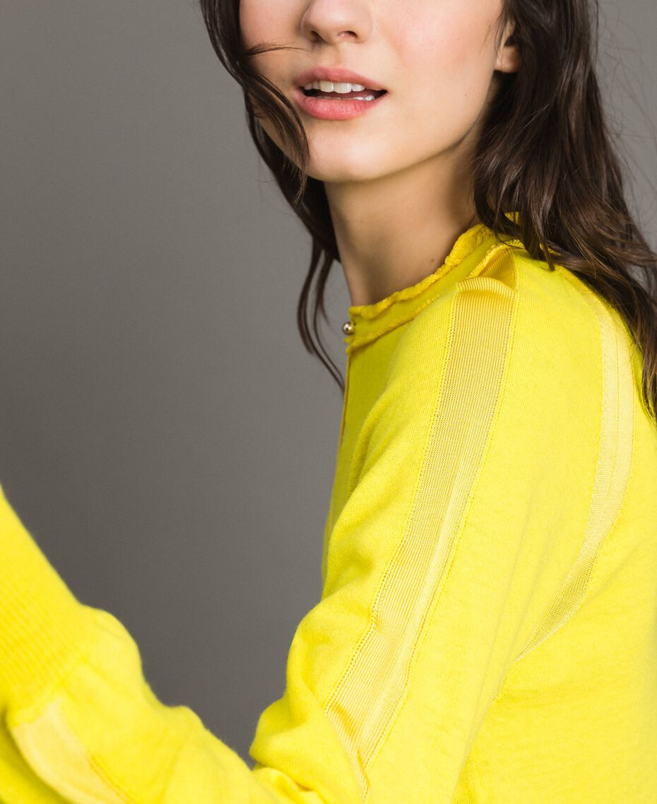 Cashmere mix top Yellow Woman 191TP3060-05