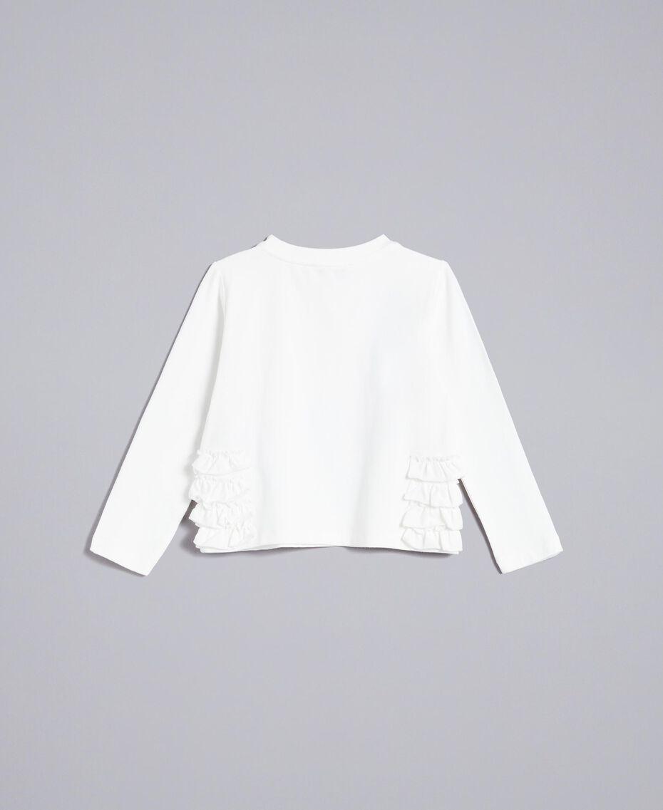 T-Shirt aus Jersey mit Print Mattweiß Kind FA82JD-0S
