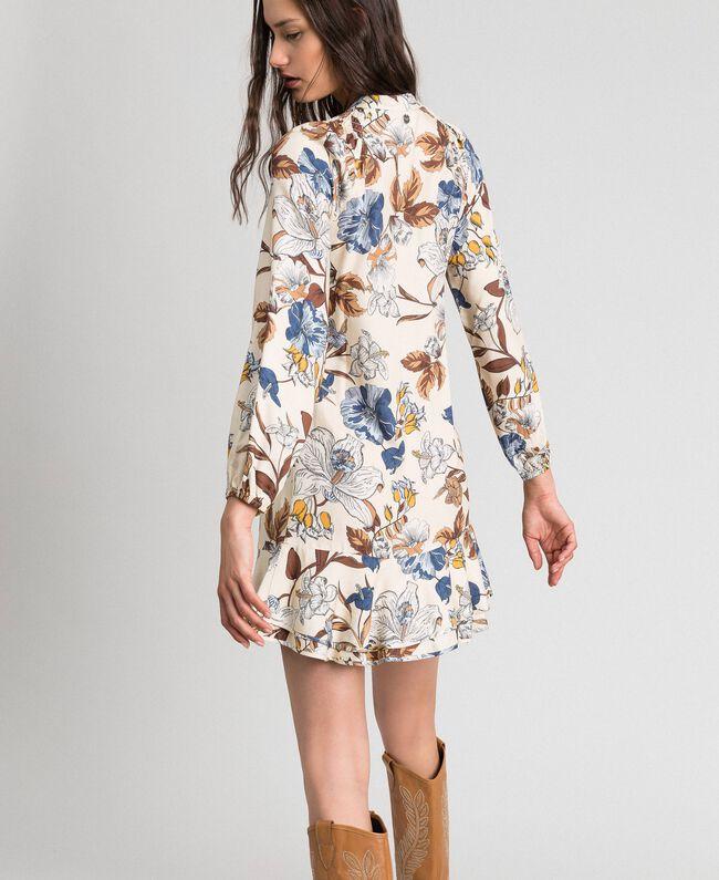 Robe avec imprimé floral Imprimé Fleurs d'Automne Crème Femme 192ST2220-04