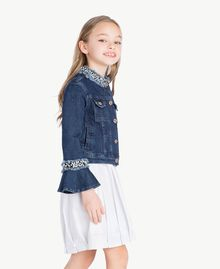"Embroidered jacket ""Mid Denim"" Blue Child GS82W2-03"