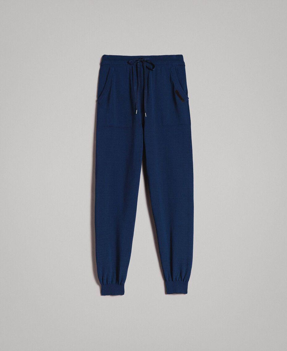 Jogginghose aus Baumwollmischung Blackout Blau Mann 191UT3083-0S