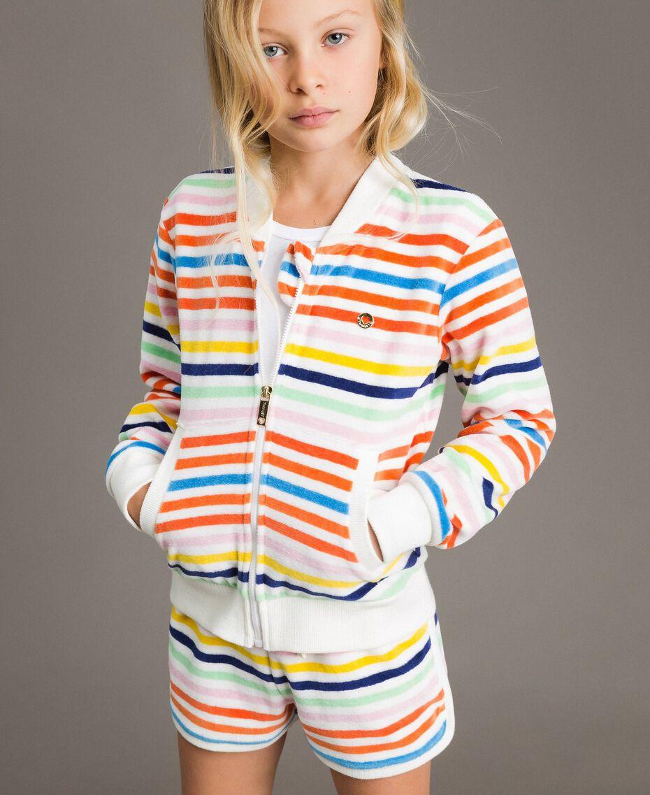 Pullover mit mehrfarbigen Streifen Streifen Multicolour Kind 191GJ2223-0S