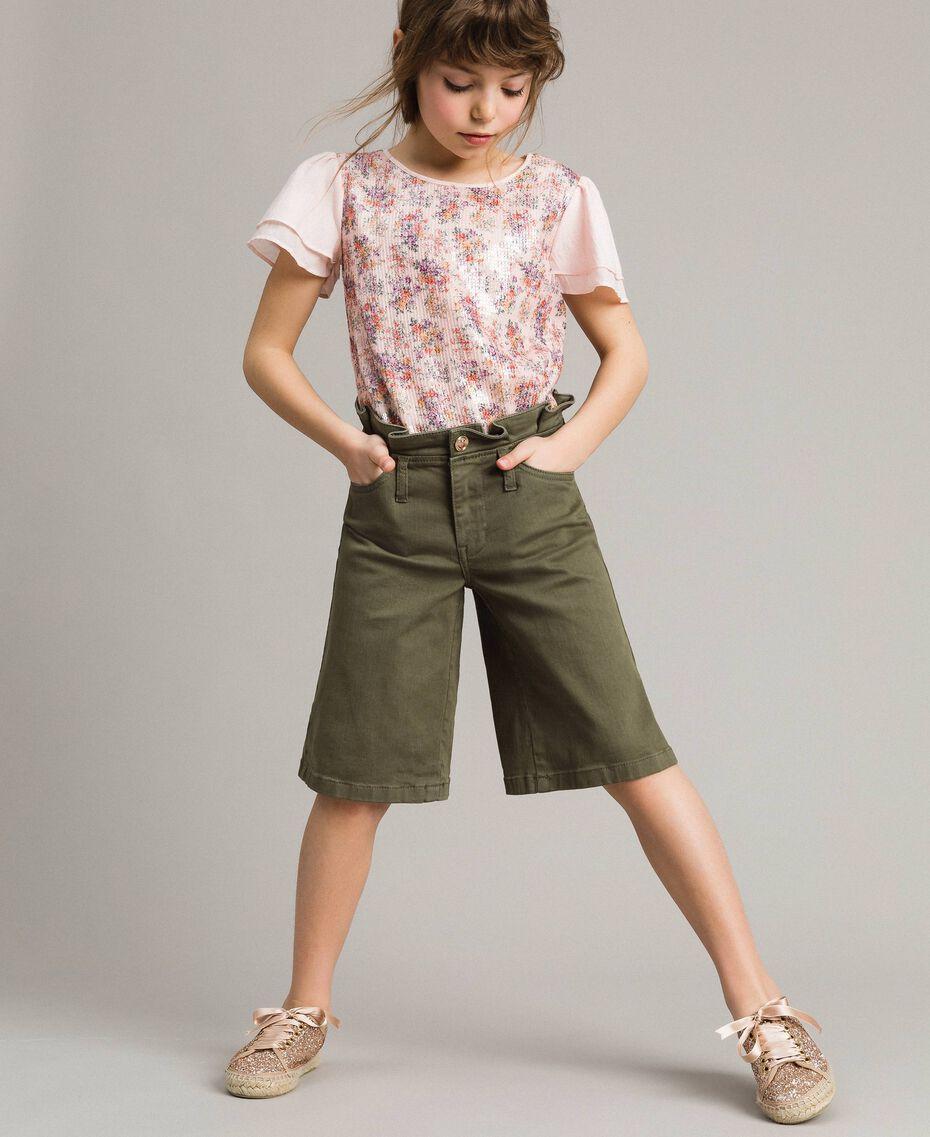 Cotton bull bermuda shorts Tundra Green Child 191GJ2493-0S
