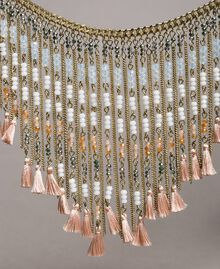 "Necklace with beaded fringes ""Rose Sand"" Pink Woman 191TO5340-02"