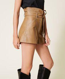 Shorts a vita alta con cintura Lampone Scuro Donna 212TP2510-04