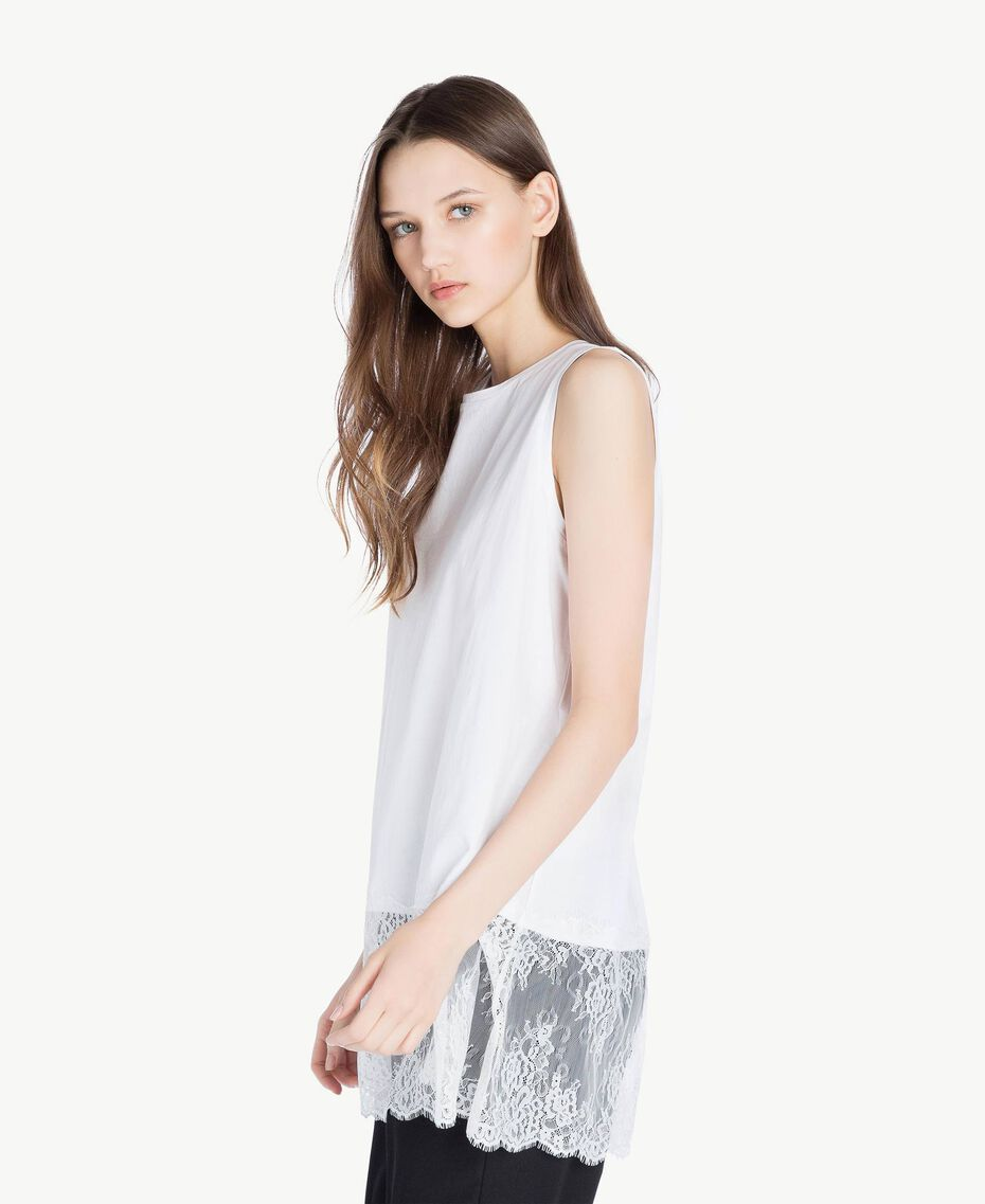Top pizzo Bianco Donna SS82RB-02