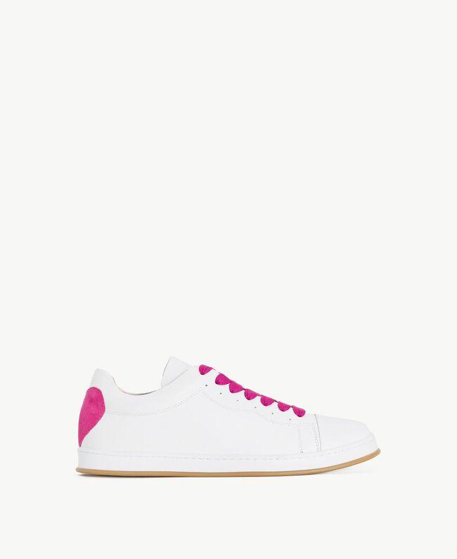 TWINSET Baskets cœur Bicolore Blanc Optique / Rose «Hortensia» Femme CS8PJJ-01