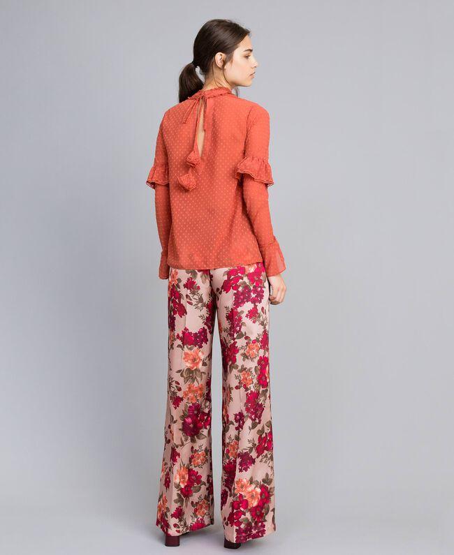 Blouse en fil coupé Rouge «Redwood» Femme SA82GD-04