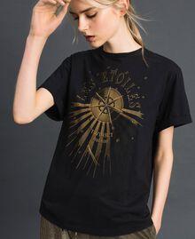 T-shirt con stampa Nero Donna 192TT2561-03