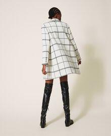 Пальто из жаккардового сукна Большая Клетка Двухцветный Черный Белый / Черный женщина 202TP224A-03