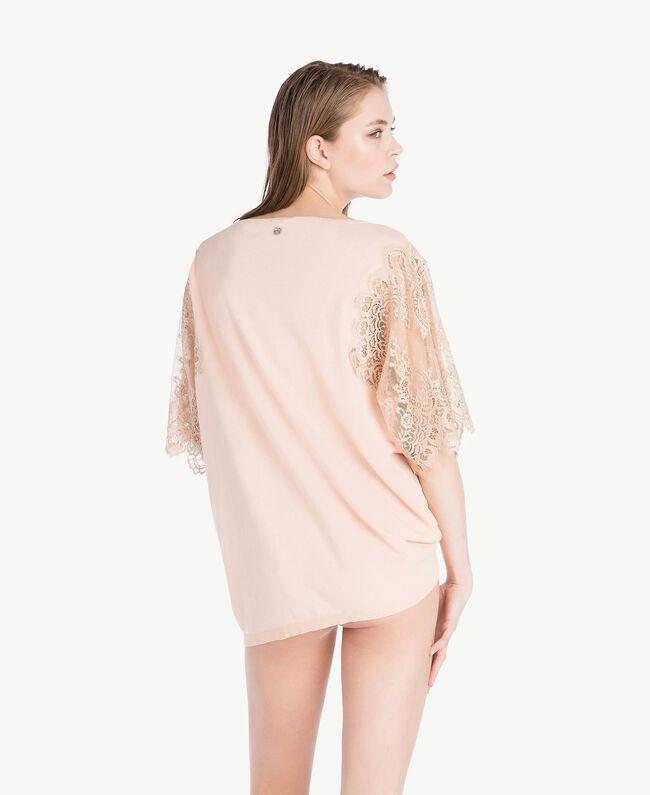 "Cotton maxi jumper ""Peach Powder"" Pink Woman LS8CCC-04"