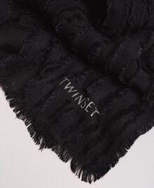 Écharpe en coton Noir Femme 191TA436A-02