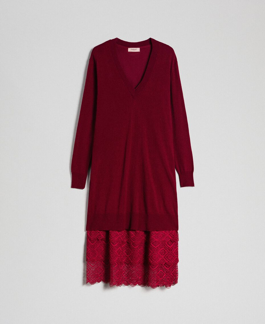 Knit dress with crêpe and lace slip Red Velvet Woman 192TT3084-0S