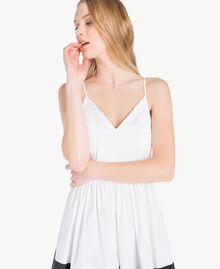 Robe popeline Blanc Optique / Noir Femme YS82FA-04