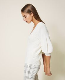 Maglia in misto lana Bianco Panna Donna 202MP3162-02