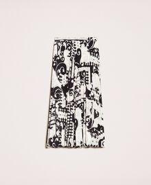 Jupe-culotte en crêpe georgette imprimé Imprimé Liberty Blanc / Noir Femme 201ST213H-0S