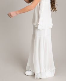 Pleated georgette and lace trousers Off White Child 191GJ2QA1-03