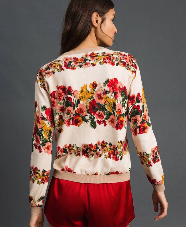 Coreana in maglia stampata Stampa Mix Filari Donna 192TP3368-03