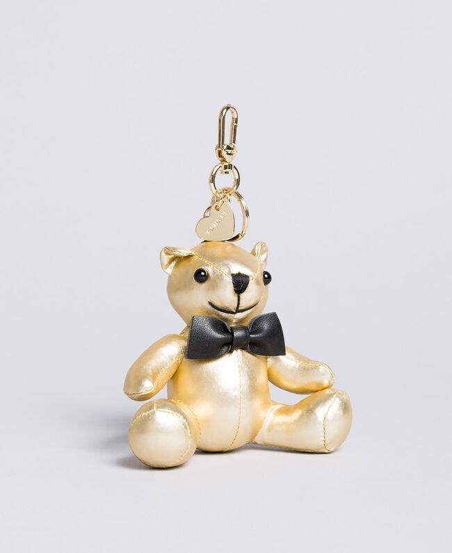 Laminated faux leather keychain Laminated Gold Woman OA8TE2-01