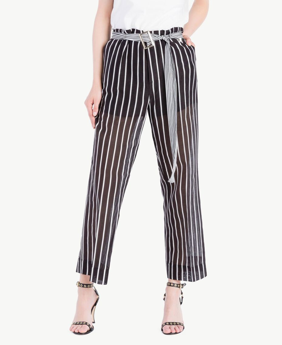 Pantalone stampa Stampa Patch Righe Donna TS82ZN-02