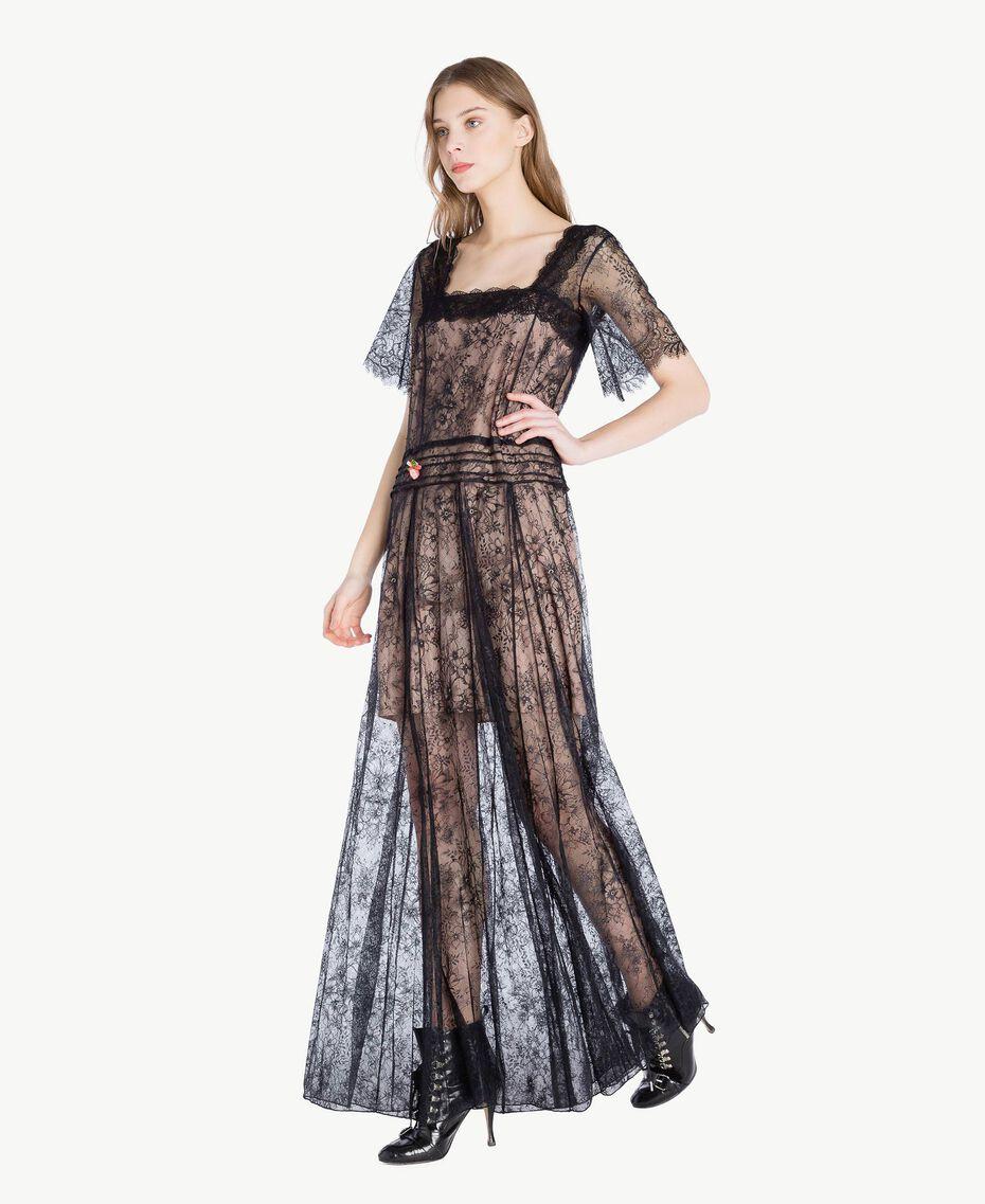 Long lace dress Black Woman PS821F-02
