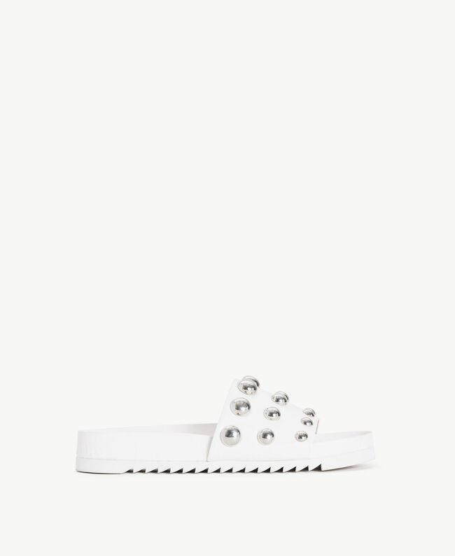 TWINSET Studded slippers White Woman DS8PEA-01