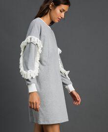 Chemise de nuit avec franges Gris Mélangé Femme 192LL2EEE-03
