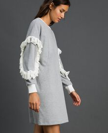 Fringed night gown Melange Grey Woman 192LL2EEE-03