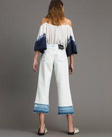 Cotton denim wide leg jeans Denim Blue Woman 191MT2432-03