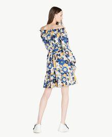 Printed dress Flat Flower Print Placid Blue Woman SS82PC-03
