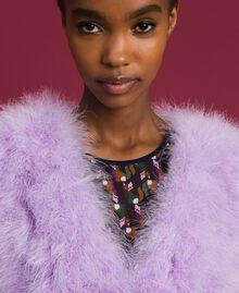 Gilet en plumes Violet «Glycine» Femme 192ST4790-04