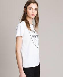 T-Shirt mit Logo Weiß Frau 191TP2606-03