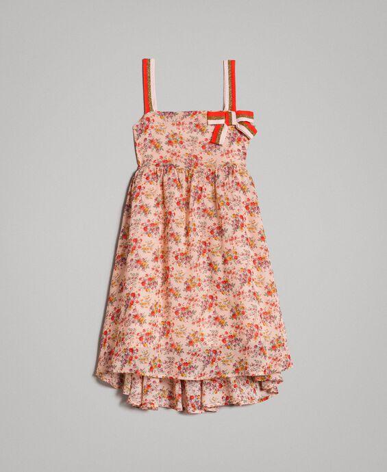 Georgette-Kleid mit Blumenmuster
