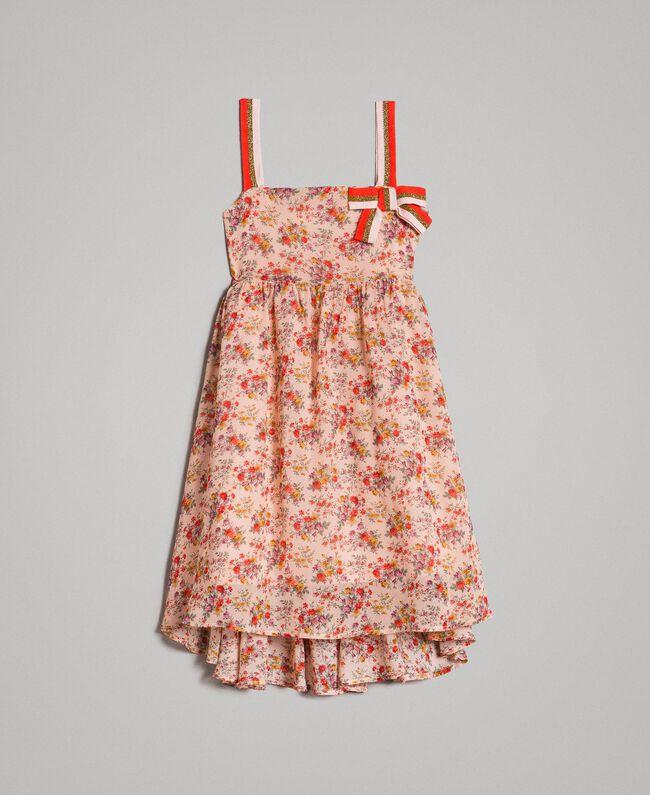 Robe à fleurs en georgette Imprimé Mini-Fleurs Enfant 191GJ2802-01
