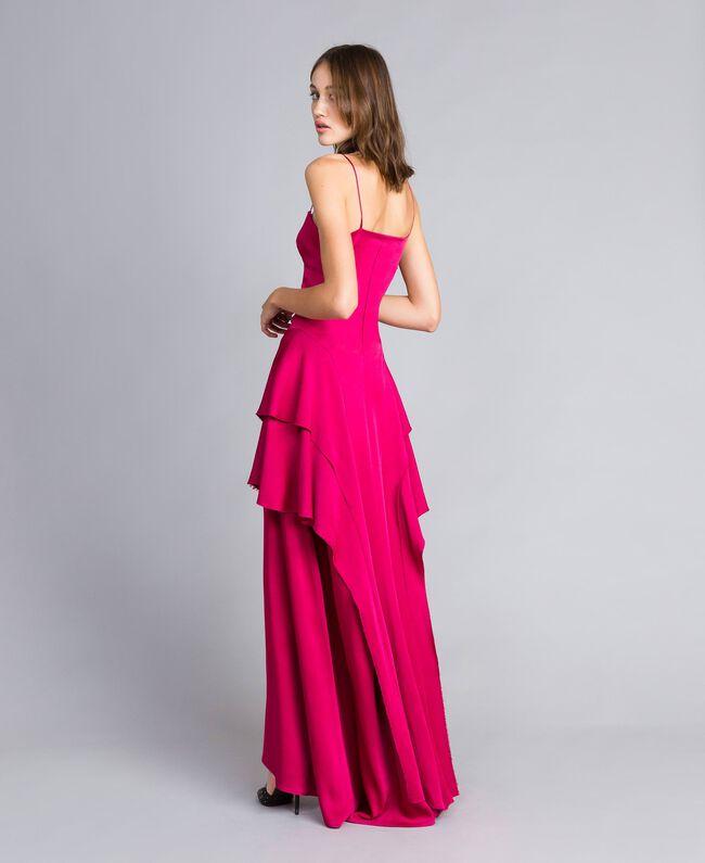 "Langes Kleid ""Anemonen""-Fuchsia Frau QS8TGF-03"